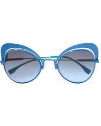 Fendi - Butterfly-frame Metal Sunglasses - Lyst