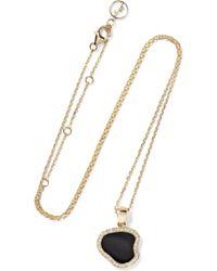 Anissa Kermiche - Belle De Nuit 14-karat Gold, Onyx And Diamond Necklace - Lyst