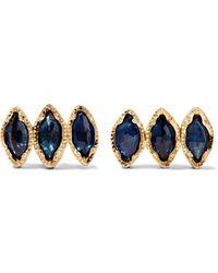 Brooke Gregson - 18-karat Gold Sapphire Earrings - Lyst