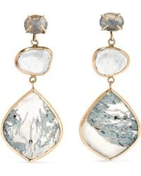 Melissa Joy Manning | 14-karat Gold And Sterling Silver Multi-stone Earrings | Lyst