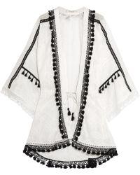 Jonathan Simkhai - Crochet-trimmed Embroidered Cotton-gauze Robe - Lyst