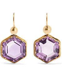 Fred Leighton - 1900 14-karat Gold Amethyst Earrings - Lyst