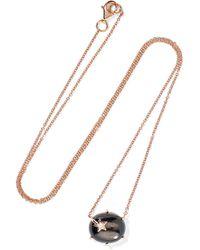 Andrea Fohrman - Mini Galaxy Star 18-karat Rose Gold, Moonstone And Diamond Necklace - Lyst