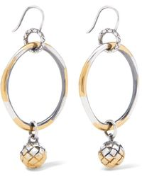 Bottega Veneta - Dichotomy Gold-plated Silver Earrings - Lyst