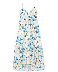 Borgo De Nor - Anais Printed Satin Maxi Dress - Lyst