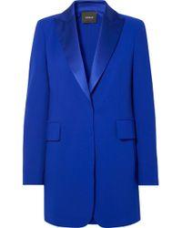 Akris - Oversized Satin-trimmed Wool-blend Blazer - Lyst