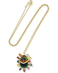 Daniela Villegas | Rinata 18-karat Gold Sapphire Necklace | Lyst