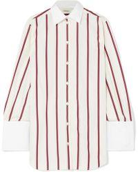 Totême  - Sassa Oversized Striped Cotton-poplin Shirt - Lyst