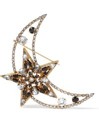 Erickson Beamon - American Graffiti Gold-plated Swarovski Crystal Brooch - Lyst