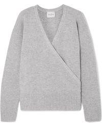 Le Kasha - London Wrap-effect Cashmere Sweater - Lyst