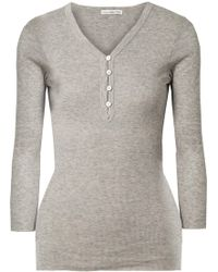 James Perse - Ribbed Cotton And Cashmere-blend Top - Lyst