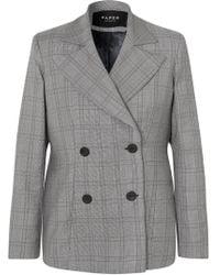 Paper London - Leni Oversized Checked Wool-blend Blazer - Lyst