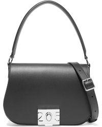 25ad2e01281 CALVIN KLEIN 205W39NYC - Bonnie Grosgrain-trimmed Leather Shoulder Bag -  Lyst