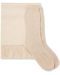 Johnstons - Cashmere Scarf And Socks Set - Lyst