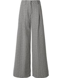 House of Holland - Cotton-blend Jacquard Wide-leg Trousers - Lyst