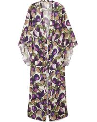 Adriana Degreas - Printed Voile Robe - Lyst