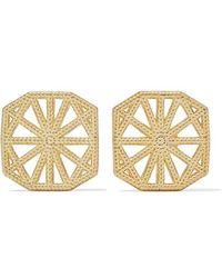 Grace Lee - Petite Lace Deco Gold Earrings - Lyst