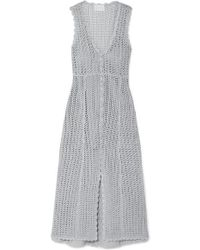 Alice McCALL Magic Metallic Open-knit Midi Dress - Gray