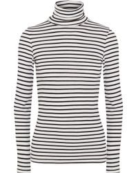 Splendid - Venice Striped Stretch-jersey Turtleneck Top - Lyst