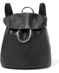 The Row - Textured-leather Backpack - Lyst