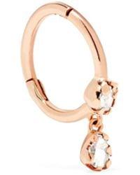 Pascale Monvoisin - Lara 9-karat Rose Gold Diamond Earring - Lyst