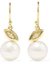 Ippolita - Nova 18-karat Gold, Diamond And Pearl Earrings - Lyst