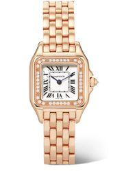 Cartier - Panthère Small Rose Gold & Diamonds - Lyst