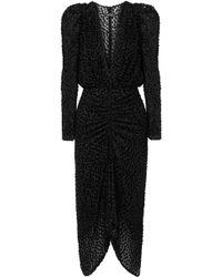 Isabel Marant - Maray Ruched Devoré-velvet And Tulle Dress - Lyst