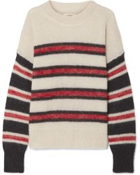 Étoile Isabel Marant - Russell Striped Mohair-blend Sweater - Lyst