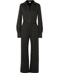 Stine Goya - Lana Embroidered Polka-dot Knitted Jumpsuit - Lyst