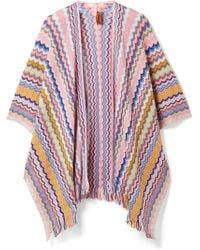 Missoni - Fringed Crochet-knit Cotton Wrap - Lyst