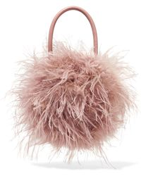 Loeffler Randall - Zadie Feather And Leather Tote - Lyst