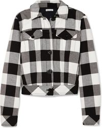 Tomas Maier - Cropped Checked Cotton-twill Jacket - Lyst