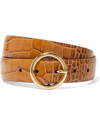 Andersons - Croc-effect Leather Belt - Lyst