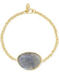 Pippa Small - 18-karat Gold Labradorite Bracelet - Lyst