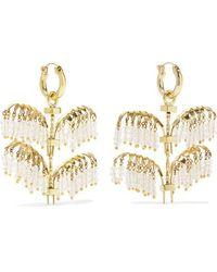 Ellery - Genealogy Mini Palm Gold-tone Crystal Earrings - Lyst