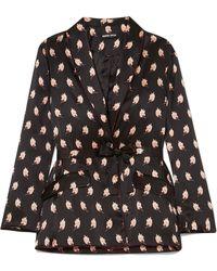 Markus Lupfer | Sydney Printed Silk-satin Jacket | Lyst