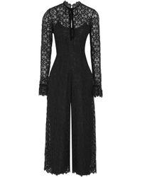 Temperley London - Eclipse Velvet-trimmed Corded Lace Jumpsuit - Lyst