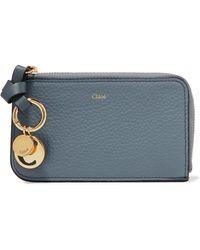 Chloé - Alphabet Textured-leather Wallet - Lyst
