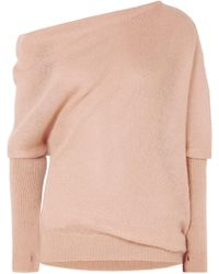 Tom Ford - Off-the-shoulder Mohair And Silk-blend Jumper - Lyst