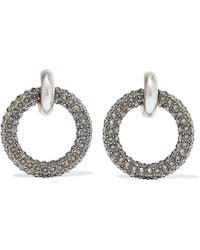 Balenciaga - Palladium-tone Crystal Earrings - Lyst