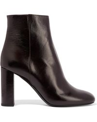 Saint Laurent | Loulou Glossed-leather Ankle Boots | Lyst