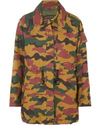 Burberry - Camouflage-print Cotton And Ramie-blend Canvas Jacket - Lyst