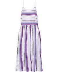 lemlem - Adia Striped Cotton-blend Gauze Midi Dress - Lyst