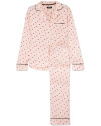 DKNY - Read My Lips Printed Satin Pyjama Set - Lyst