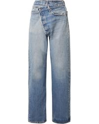 R13 - Crossover Asymmetric High-rise Straight-leg Jeans - Lyst