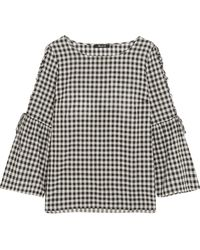 Madewell - Tie-detailed Gingham Cotton Top - Lyst