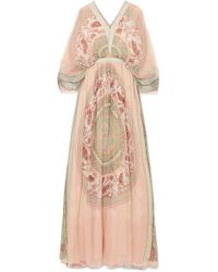 Chloé - Printed Silk-crepon Maxi Dress - Lyst