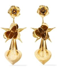 Jennifer Behr - Lily Rose Gold-plated Earrings - Lyst