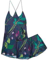 Olivia Von Halle - Bella Printed Silk-satin Pyjama Set - Lyst